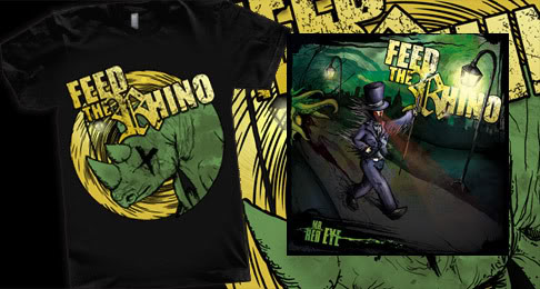 Feed The Rhino Tshirt + 'Mr Red Eye' CD