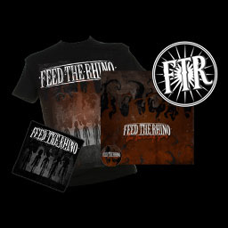 Feed The Rhino Tshirt + 'The Burning Sons' CD